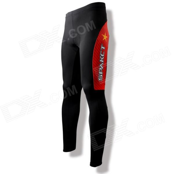 SPAKCT CSY384 Bike Bicycle Cycling Riding Pants - Black + Red (Size XL)
