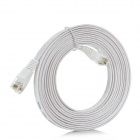 Cat.6 RJ-45 to RJ-45 Male to Male LAN Network Flat Cable - White (3M)