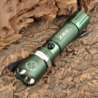 Cree XP-E R2 250lm 3-Mode White Zooming Flashlight w/ Crown Head - Green (1 x 18650 / 3 x AAA)