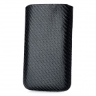 Protective PU Leather Sleeve for Samsung Galaxy Note 2 / N7100 / i9220 - Black