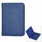 Lychee Pattern Protective PU Leather Case for Kindle Paperwhite w/ Hibernation Function - Dark Blue