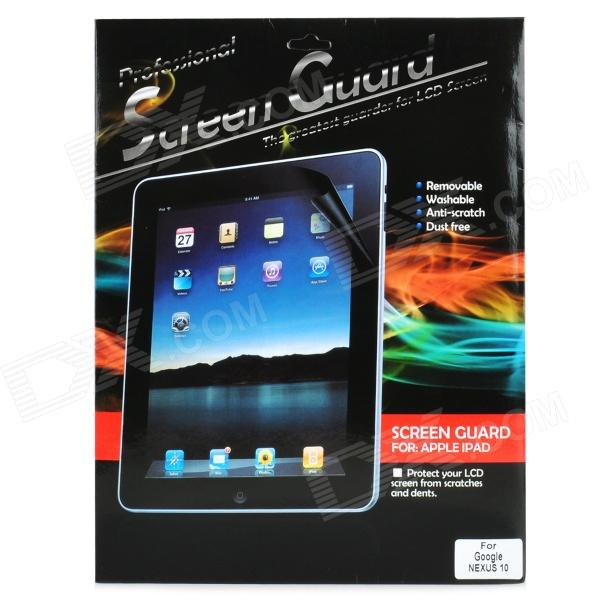 Protective 5H Glossy Screen Protector Guard for Google Nexus 10 - Transparent