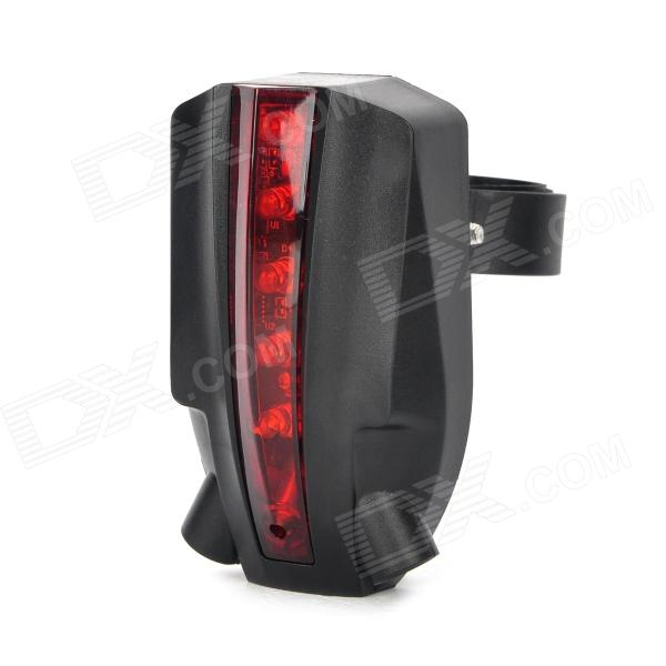 BRL-202 5-LED Red Laser Bicycle Tail / Brake Lamp - Black + Red (2 x AAA) ufo style 6 led 7 mode red light warning tail lamp for bicycle red green 2 x aaa