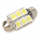 Festoon 0.96W 6-LED White Box Cabana / Dome Porta / / Luva (DC 12V)