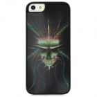 3D Ghost Head Pattern Matte Protective Back Case for Iphone 5 - Black