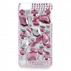 Stylish Acryl Diamond Protective Plastic Hard Back Case for Ipod Touch 5 - Pink + Silver