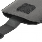 Protective PU Pouch Bag w/ Straight Strap for Iphone 5 - Black