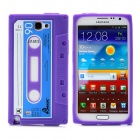 Magnetic Tape Style Protective Silicone Case for Samsung Galaxy Note 2 N7100 - Purple