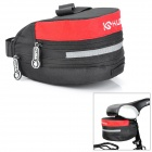 KuGai Cycling Bicycle Bike Fashion Saddle Seat Tail Bag - Black + Red (12 L)