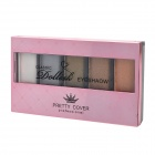 Pretty Cover 90908 5-Color Cosmetic Makeup Eyeshadow Set - White + Silver + More
