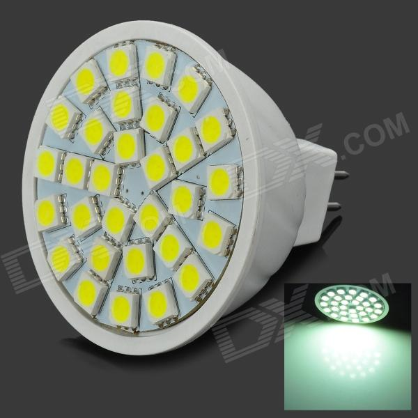 Daiwl H3001W PVC GX5.3 4.5W 540lm 6500K 30-SMD 5050 LED White Light Lamp - White (AC 12V)