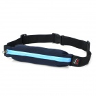 Water Resistant Flexible Outdoor Running / Cycling / Sporting Waist Bag - Black + Blue (1L)