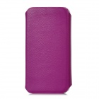 Protective Swivel 360 Degree Rotating PU Leather Case for Iphone 5 - Purple