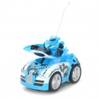 ZhengCheng 333-BX005B Rechargeable 2-CH Radio Control Transform R/C Car w/ Music / Light - Blue