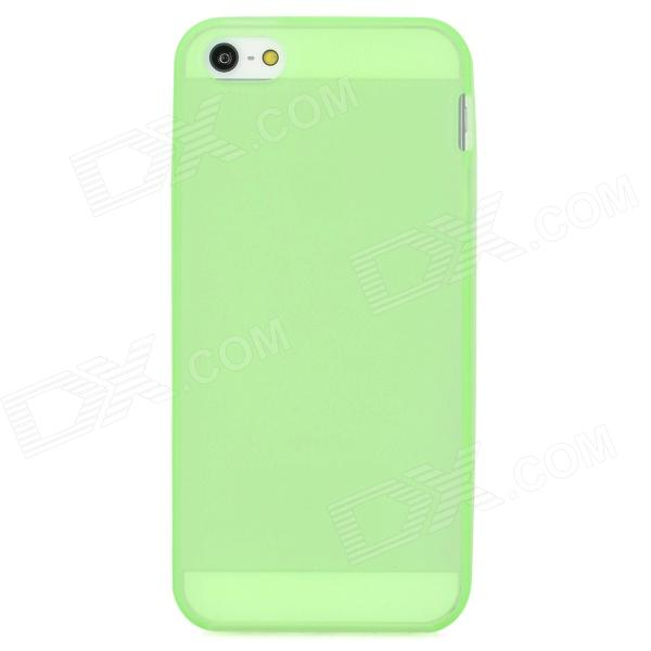 Protective Noctilucent TPU Back Case for Iphone 5 - Green protective noctilucent tpu pc back case for iphone 5 red transparent