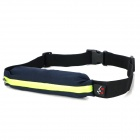 Water Resistant Flexible Outdoor Running / Cycling / Sporting Waist Bag - Black + Green (1L)