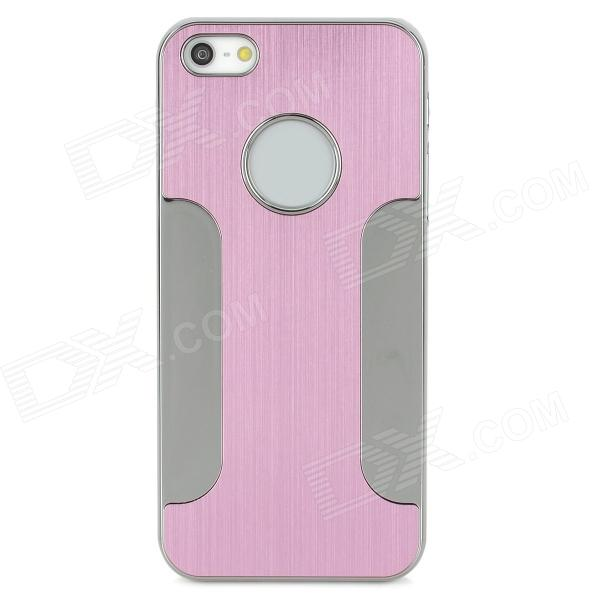 Protective Blade Aluminum Alloy Back Case for Iphone 5 - Pink