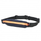 Water Resistant Flexible Outdoor Running / Cycling / Sporting Waist Bag - Black + Orange (1L)