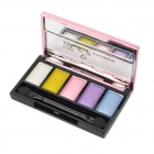 Pretty Cover 90901 5-Color Cosmetic Makeup Eyeshadow Set - White + Blue + More