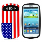 US Flag Pattern Protective ABS / PC Back Case for Samsung Galaxy i9300 - Red + White + Blue