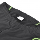 NS903-W Bike Bicycle Cycling Riding Pants - Black + Green (Size L)