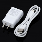 Genuine Samsung Galaxy Note 2 N7100 US Plug Power Adapter w/ USB Cable - White