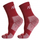 Women's Outdoor Sports Cotton Walking Socks - Red (Size M / Pair)