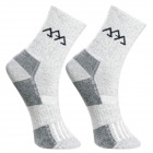 Men's Outdoor Sports Cotton Walking Socks - Grey (Size L / Pair)