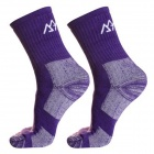 Women's Outdoor Sports Cotton Walking Socks - Purple (Size M / Pair)