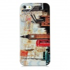 Big Ben Pattern Protective Plastic Back Case w/ Screen Protector for iPhone 5 - White + Red + Black