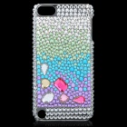 Protective Plastic + Rhinestone Back Case for Ipod Touch 5 - Green + White