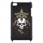 Skull Pattern Protective Plastic Back Case for Ipod Touch 4 - Black