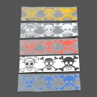 Fashionable Pirate Skull Heads Plastic Reflective Stickers for Motorcycle - Color Assort (5 PCS)