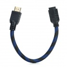 HDMI Male to Female Connection Cable - Black + Blue