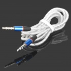3.5mm Male to Male Audio Connection Cable - White + Blue + Silver (1.2m)