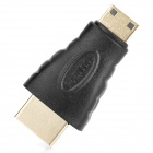 WingTurn WT-0215-APC-F HDMI Male to Mini HDMI Male Adapter - Black + Golden