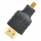 ING-TURN WT-0209-APD-F Gold Plated Micro HDMI Male to HDMI Male Adapter - Black + Golden