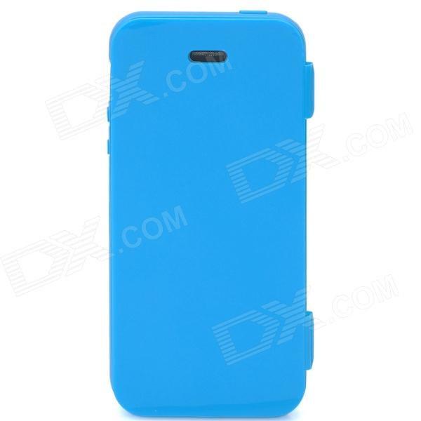 Protective Full Protection Plastic Case w/ Cover for iPhone 5 - Blue