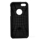 Protective Plastic + Silicone Back Case for Iphone 5 - Black
