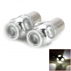 17.5W 500lm 6000~6500K LED White Light Car Lens Brake / Back-up Light w/ 5-CREE XP-E (12~24V / 2PCS)