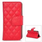 Stylish Protective PU Leather Case for iPhone 5 - Red