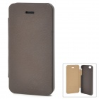 NILLKIN Protective PC + PU Leather Case w/ Screen Protector for Iphone 5 - Coffee