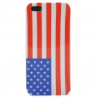 US National Flag Pattern Protective ABS Back Case for iPhone 5 - Red + White + Blue