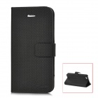 Protective PU Leather Flip-Open Case for Iphone 5 - Black