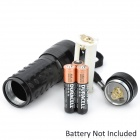 380~400nm 14-LED Ultraviolet Light UV Flashlight - Black (3 x AAA)