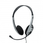 DICSONG CD-930MV Stereo Headphone w/ Microphone - Silver
