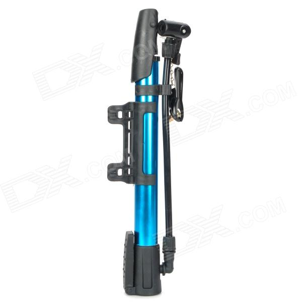 Portable Aluminum Alloy Bicycle Bike Tire Air Pump - Blue + Black