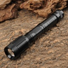 NEW-205 CREE XM-L T6 900lm 5-Mode White Zooming Flashlight - Black (2 x 18650 / 6 x AAA)