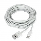 USB Data / Charging 8-Pin Lightning Cable for iPhone 5 / Touch 5 / Nano 7 / iPad Mini - White (5M)