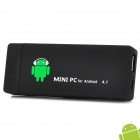 FX4 Android 4.1 Mini PC Google TV Player w/ Wi-Fi / 1GB RAM / 4GB ROM / TF / HDMI - Black + White
